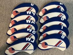 USA 10pc Set 4-LW Neoprene Iron Head Covers for TaylorMade C