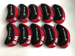 10PCS Golf Club Headcovers for Cobra Iron Head Covers 4-LW R