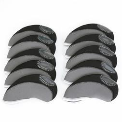 10pcs Golf Head Cover Club Wedge Iron Protective Headcovers