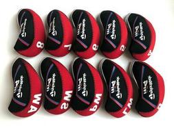10PCS Golf Iron Head Covers for Taylormade M4 Club Headcover