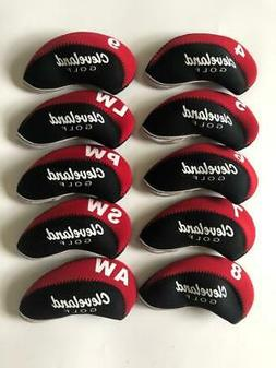 10PCS Golf Iron Headcovers for Cleveland Club Covers 4-LW Re