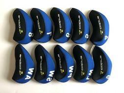 10PCS Golf Iron Headcovers for Cobra Club Head Covers 4-LW B