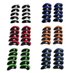 10pcs Neoprene Golf Club Iron Head Cover For Titleist Callaw
