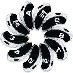 Andux 10pcs/Set Golf Irons Club Head Covers with Number Tags