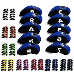 10Pcs/set Neoprene Golf Club Iron Head Covers Taylormade Pin