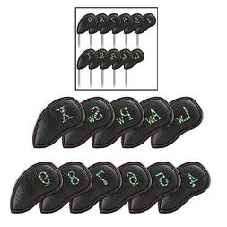 11 PCS Golf Iron Head Covers With Numbers Sports Fan Equipme