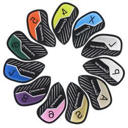 Craftsman Golf 11pcs Colorful Golf Club Iron Cover Set 4 5 6