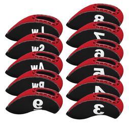 11PCS Golf Club Covers RH for Callaway Iron Headcovers Black