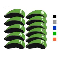 11pcs Neoprene Golf Club Iron Head Covers For Titleist Calla