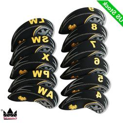 11PCS/Set Neoprene Golf Iron Covers Head cover For mizuno Ti