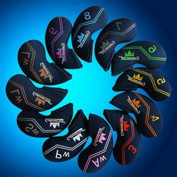 12pcs Iron Club Golf Head Cover Set For TaylorMade Mizuno Cl
