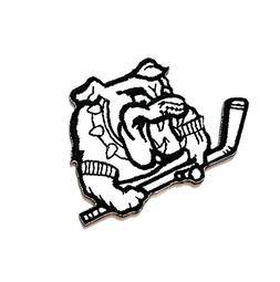 2.7'' X 2'' White Black Bulldog Pitbull Dog Pet Sports Golf