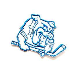 2.7'' X 2'' White Blue Bulldog Pitbull Dog Pet Sports Golf C