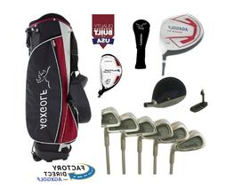 +2 INCH TALL MENS LEADER COMPLETE GOLF CLUB SET +BAG,GRAPHIT