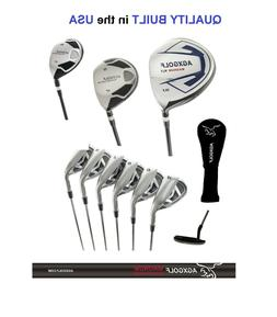 "+2"" TALL MENS AGXGOLF COMPLETE GOLF CLUB SET 460cc DRIVER, W"