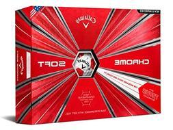 Callaway Golf Chrome Soft Truvis Golf Balls, , White/Red