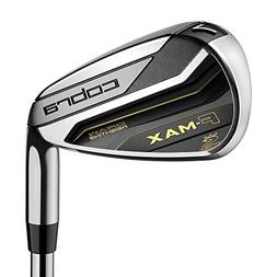 Cobra Men's 2018 F-Max Iron Set, Black/Gold Regular Steel Ri