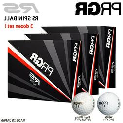 2018 PRGR GOLF JAPAN RS SPIN BALL 3 dzn White / Pearl white
