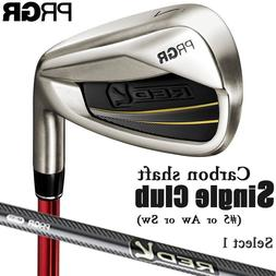 2018c PRGR GOLF JAPAN RED TITAN FACE IRON #5/ Aw/ Sw Carbon