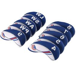 20PCS Golf Club Head Covers for Cleveland Iron Covers 4-LW B