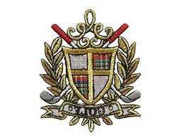 #3063 Gold Badge,Golf Clubs Embroidery Iron On Applique Patc