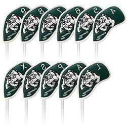 Craftsman Golf 11pcs  Dog Pu Leather Golf Iron Headcover Hea