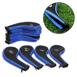 EConcept 5+5 PCs Golf Head Iron Cover Safety Storage Basic A