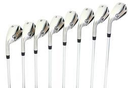 SV2 8-Piece Men's Golf Iron Set  Steel Shaft Stiff Flex, Ora