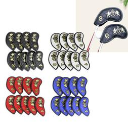 9x Premium PU Sports Golf Iron Putter Protective Head Cover