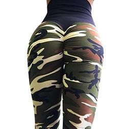 FEITONG Women's Camo Workout Leggings Fitness Sports Gym Run