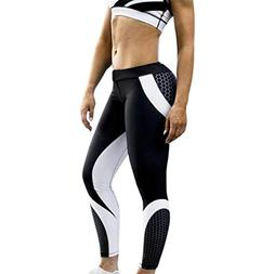 FEITONG Womens 3D Print Honeycomb Yoga Skinny Workout Gym Le