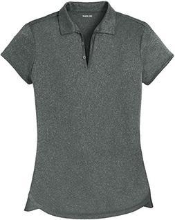 Joe's USA DRI-Equip Ladies Heathered Moisture Wicking Golf P
