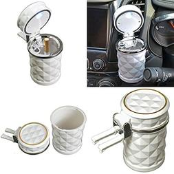 qualitykeylessplus Led Automotive Cup Holder Ashtray Coin Ho