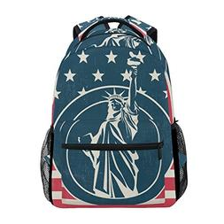 Vintage American Flag With Statue Of Liberty Unisex Rucksack