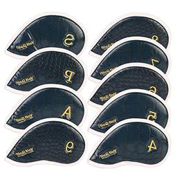 Volf Golf 4-9 A S P 9pcs/Set Headcover Waterproof PU Leather