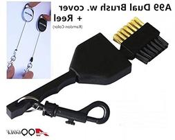 A99 Golf Dual Side Golf Club Brush Cleaner Ball Cleaning wit
