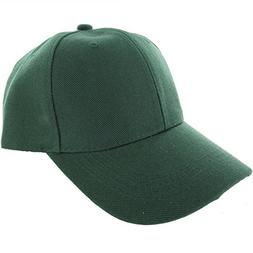 Easy-W Jungle Green-100% Acrylic Plain Baseball Cap Baseball