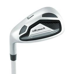 PowerBilt Boy's Ages 9-12 7-Iron Golf Stick, Right Hand, Sil