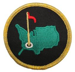 AUGUSTA GOLF MASTERS GREEN/GOLD/BLACK PATCH IRON/SEW ON
