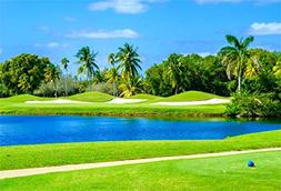 CSFOTO 8x6ft Background for Green Grass Tropical Golf Course