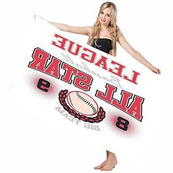 Mugod Beach Towel Bath Towels Sports College Baseball Softba