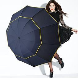 130Cm Big Top Umbrella Men Rain Woman Windproof Large Male W