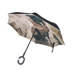 imobaby Black Dog Straight Self-standing Reserve Rain Car Um