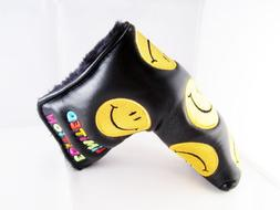 Black & Gold Smiley Smile Limited Edition Putter Head Cover