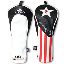 Craftsman Golf Black Red White Stripe Star Driver/Fairway Wo