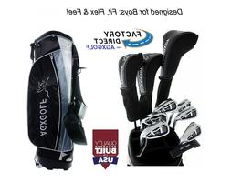 AGXGOLF BOYS TEEN MAGNUM GOLF CLUB SET STAND BAG+460DR+WD+HY
