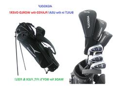 AGXGOLF BOYS RIGHT MAGNUM COMPLETE GOLF SET wDRIVER+3WD+HYBR