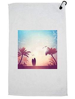 Hollywood Thread California Palm Tree Beach Surfboard Sunset