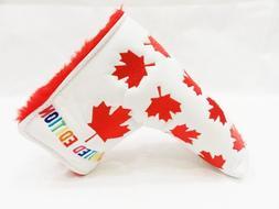 Canada Flag Maple Leaf White Limited Edition Putter Head Cov