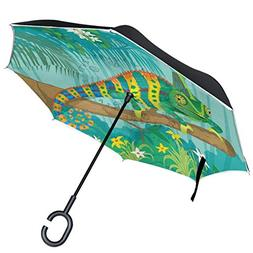 All agree Chameleon Inverted Umbrella Double Layer Windproof